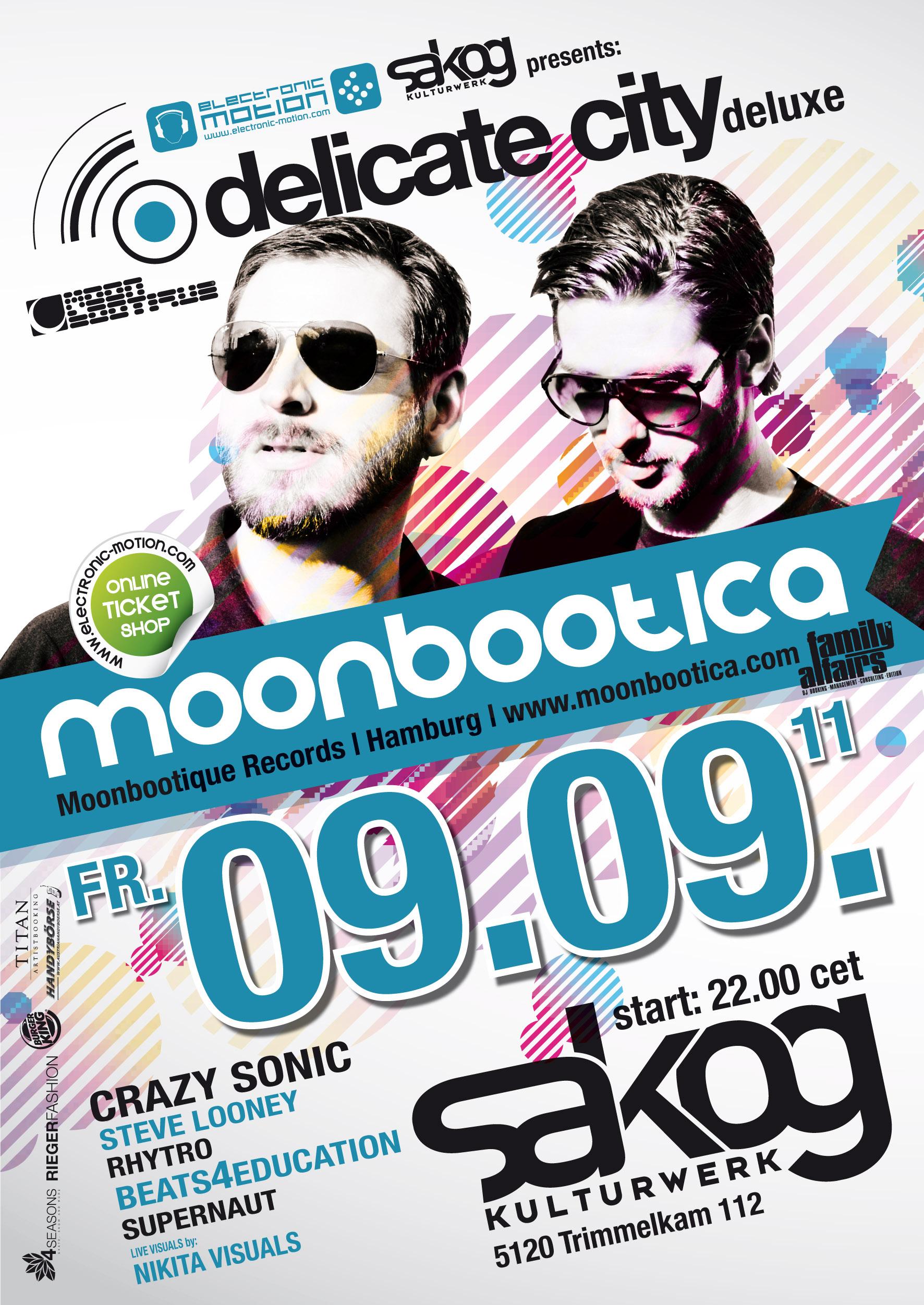 DELICATE CITY -deluxe- with Moonbootica – 09.09.11 @ Sakog Trimmelkam