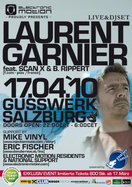 Laurent Garnier @ Gusswerk Salzburg 17.04.10