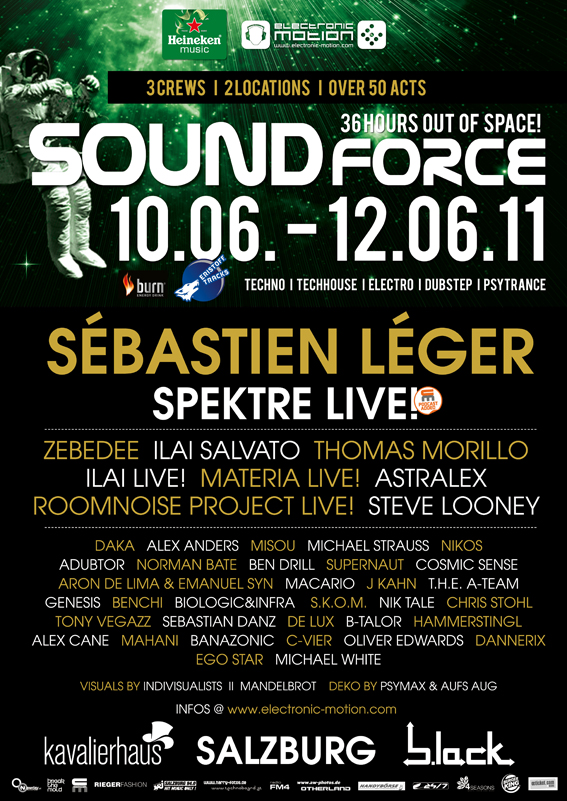 SOUNDFORCE – 36 hours out of Space – 10.-12.06. @ Kavalierhaus & b.lack