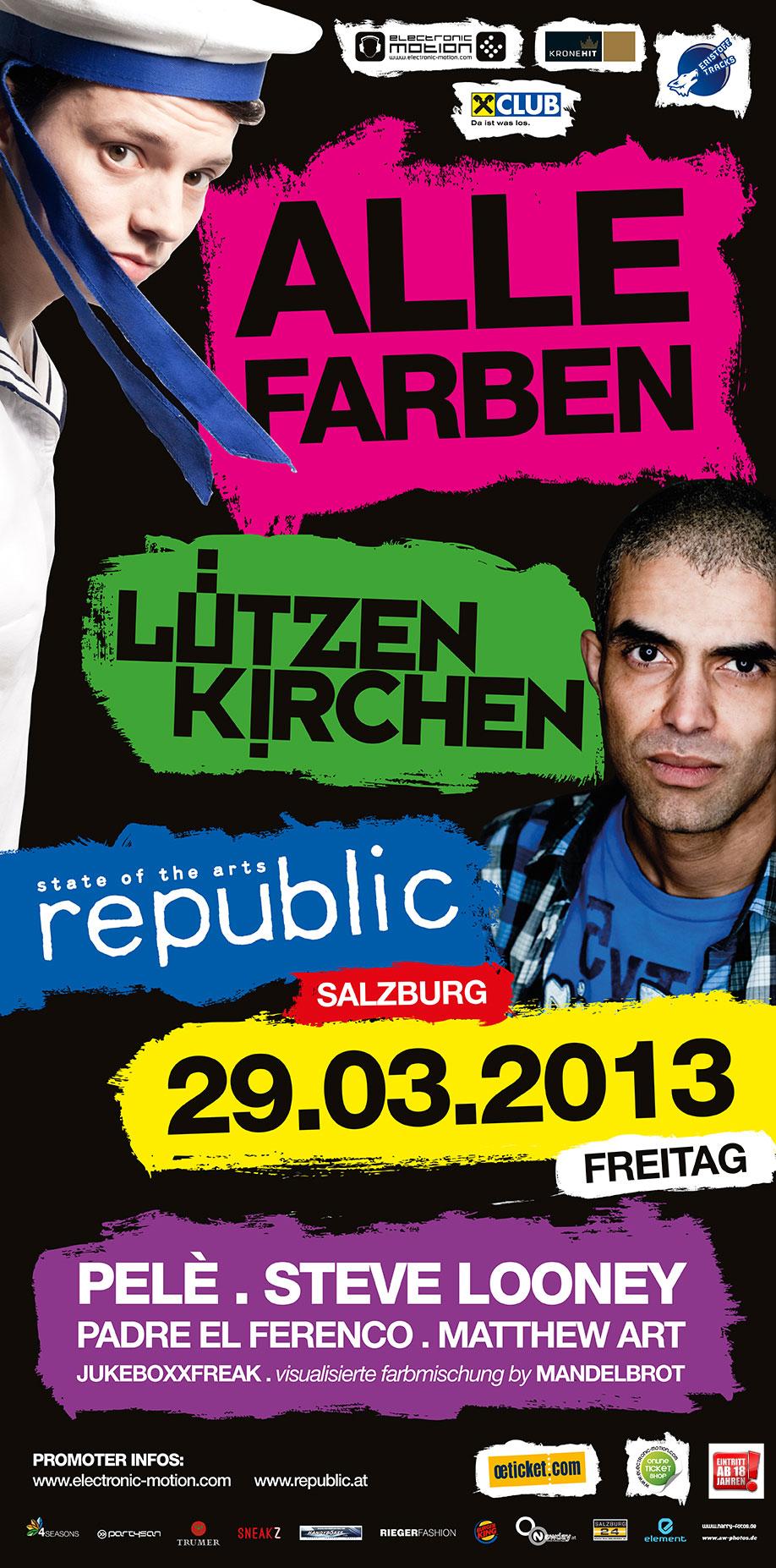 ALLE FARBEN & LÜTZENKIRCHEN, 29.03.2013 @ republic, Salzburg