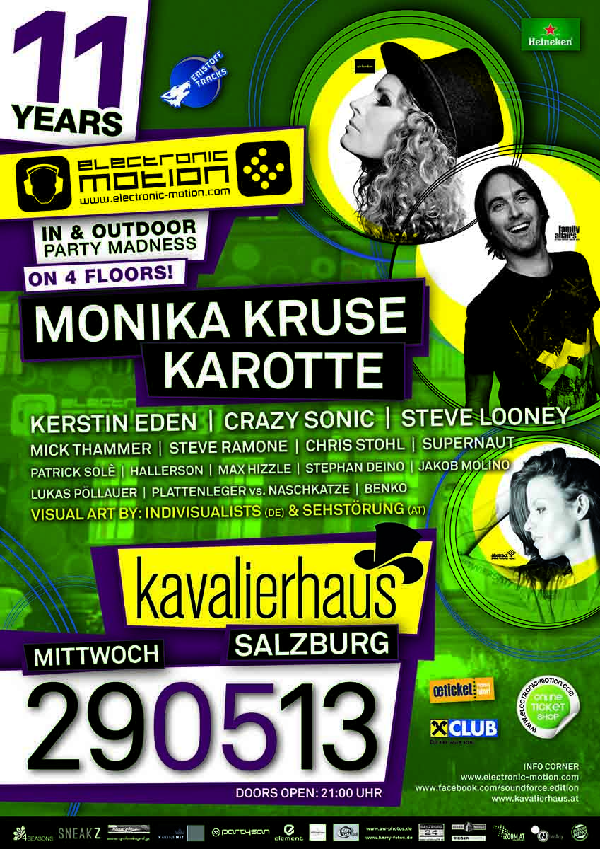 11 years of ELECTRONIC MOTION, 29.05.2013 @ Kavalierhaus, Salzburg/Klessheim